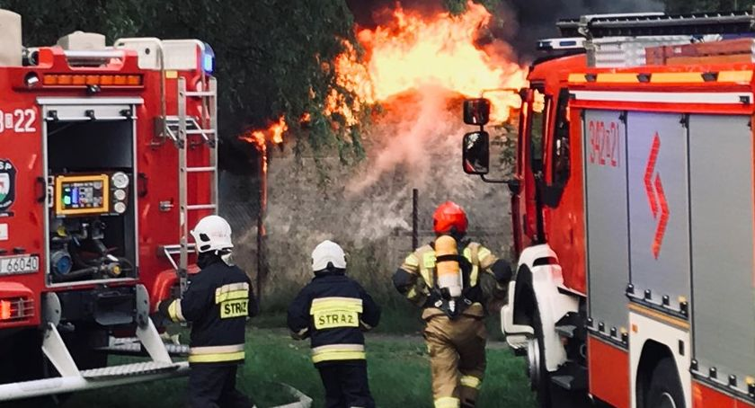 Pożary, Pożar Zabobrzu - zdjęcie, fotografia