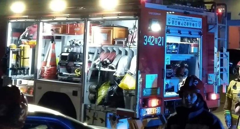 Interwencje, Straż pożarna interweniowała ulicy Noskowskiego - zdjęcie, fotografia