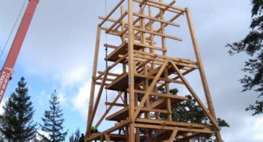 Turystyka, Czerniawie Zdroju powstaje wieża widokowa - zdjęcie, fotografia