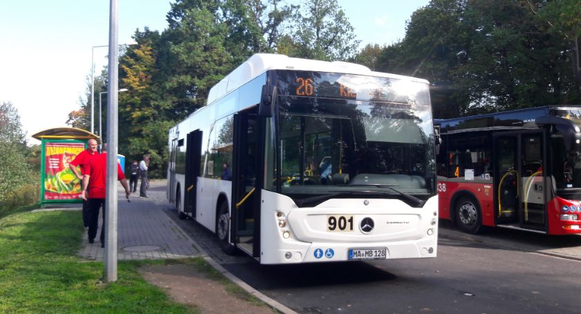 Komunikacja, Drugi autobusu - zdjęcie, fotografia