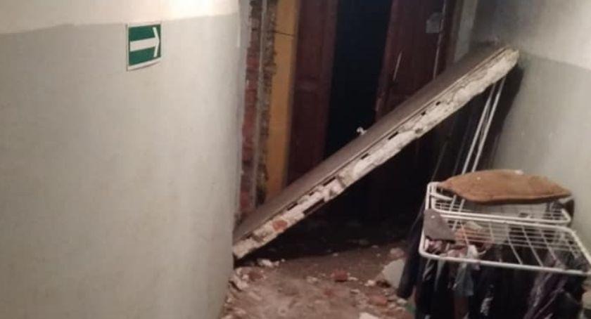 Interwencje, Wybuch mieszkaniu Bolkowie - zdjęcie, fotografia