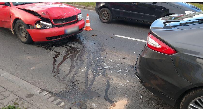 Wypadki drogowe, Zderzenie Forda Pawła - zdjęcie, fotografia