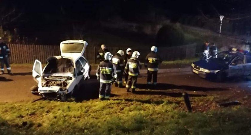 Wypadki drogowe, Pijany latek kierownicą - zdjęcie, fotografia
