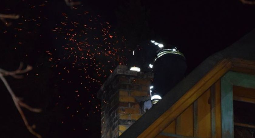 Pożary, Szklarska Poręba Pożar sadzy kominie - zdjęcie, fotografia