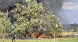 Pożar trzech aut w Kostrzycy