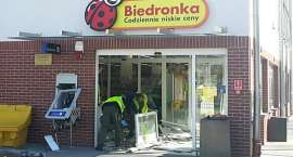 Wysadzili bankomat przy Biedronce w Bolesławcu