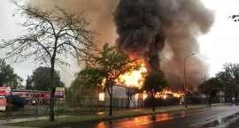 Ogromny pożar w Cieplicach