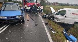 Wypadek w Łomnicy. Droga całkowicie zablokowana.
