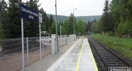 Kolej Izerska : Remont peronu na przystanku Szklarska Poręba Huta