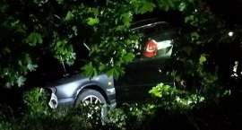 Auto uderzyło w drzewo. Kierowca trafił do szpitala.