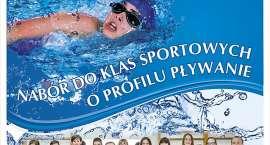 Test umiejętności pływackich dla kandydatów do klasy sportowej.