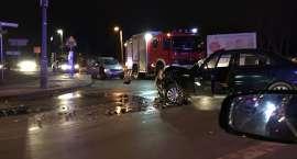 Zderzenie dwóch samochodów w Cieplicach