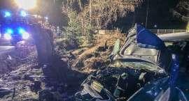 Podgórzyn : Audi wypadło z drogi. Dwie osoby w szpitalu