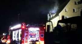 Pożar budynku w Jeżowie Sudeckim