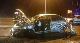 Wypadek w Pasieczniku. Droga zablokowana