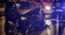 Zderzenie trzech aut na ulicy Wolności