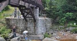Mostek na Izerze w remoncie
