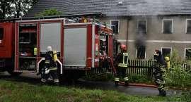 Pożar budynku w Maciejowej