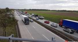 Olbrzymi korek na autostradzie A4
