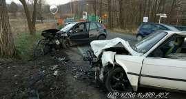 Wypadek w Kowarach. Trzy osoby w szpitalu.