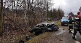 Wypadek na DK30. Kierowca w szpitalu