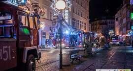 Pożar w hotelu w centrum miasta.