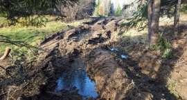Dewastacja leśnych dróg!