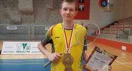 Złoto Łukasza CIMOSZ na Mistrzostwach Polski w badmintonie - Suwałki