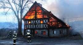 Kowary - spłonął budynek przy ul. Wojska Polskiego