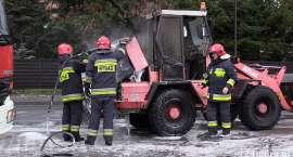 Pożar ładowarki w pobliżu Centrum Handlowego w Cieplicach