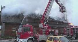 Materiał wideo z pożaru Karczmy u Macieja w Sadach Dolnych