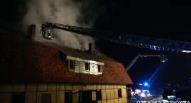 Pożar domu jednorodzinnego w Staniszowie