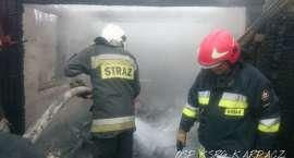 Spłonął garaż w Kowarach