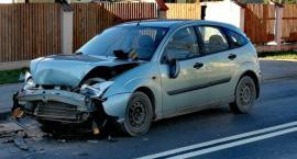 Trzy auta zderzyły się w Maciejowej