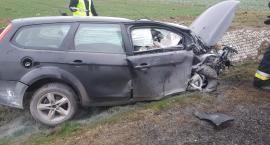 Zablokowana droga na Wrocław. Poważny wypadek pod Strzegomiem