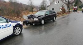 W Starej Kamienicy auto uderzyło w drzewo