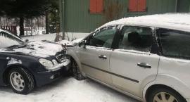 Przesieka - Czołowe zderzenie dwóch pojazdów (nagranie z videorejestratora)