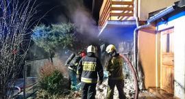 Zwarcie instalacji i pożar odpadów