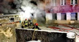 Pożar komórki przy ul. Wrońskiego