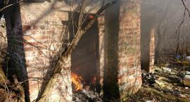 Pożar pustostanu na osiedlu Orle