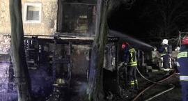 Pożar w Janowicach Wielkich. Zagrożony był budynek mieszkalny.