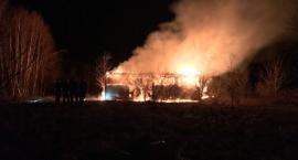 Potężny pożar w Siedlęcinie