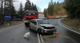 Ślisko na drogach - Zderzenie pod Szklarską Porębą