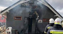 W Wojcieszycach płonął garaż