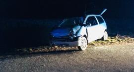 Rozbite auto  w Małej Kamienicy