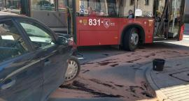 Kolizja z autobusem MZK