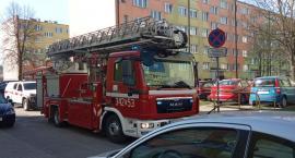 Ogień na dachu bloku przy ulicy Różyckiego ?