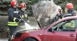 Pożar auta na Kiepury