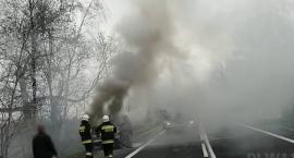 DK 30 - samochód w płomieniach