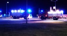 Ogień na stacji benzynowej